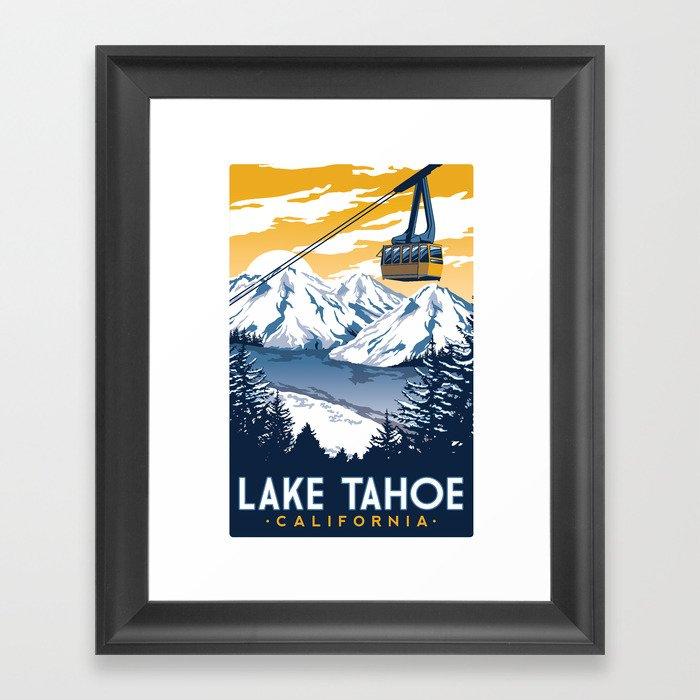 lake tahoe california Gerahmter Kunstdruck