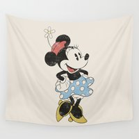 minnie Wall Tapestries featuring Minnie Mouse by Adel
