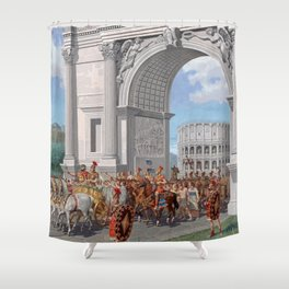 Classical Masterpiece: Roman Legion in Triumphal Procession by Herbert Herget Shower Curtain