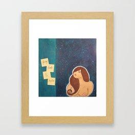 Young, Dumb, & Inspired Framed Art Print