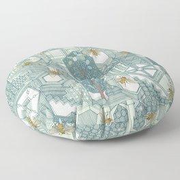 hexagon city Floor Pillow