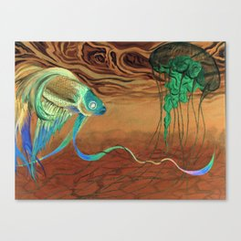 greetings [from the other side] Canvas Print