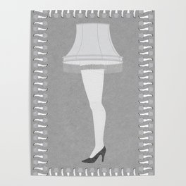 Leg Lamp Grey Poster