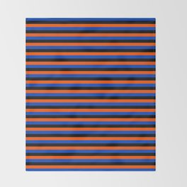 Color Stripe _001 Throw Blanket