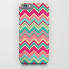 Aztec chevron pattern- pink & cream iPhone 6s Slim Case