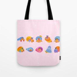 Hermit Crab - pink Tote Bag
