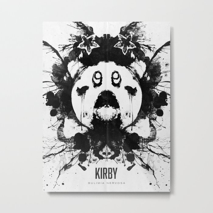 Kirby Ink Blot Geek Psychological Disorders Metal Print