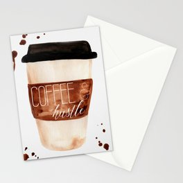 Coffee and Hustle on the Go Stationery Cards