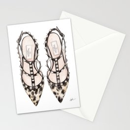 LEOPARD HEELS Stationery Cards
