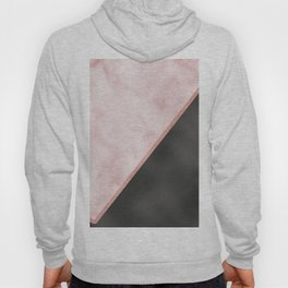 Sivec Rosa marble - black leather Hoody
