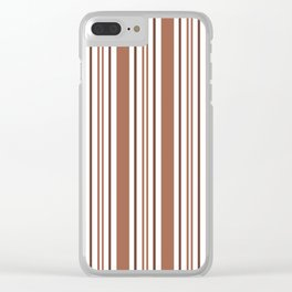 Sherwin Williams Cavern Clay Stripes Thick and Thin Vertical Lines Clear iPhone Case