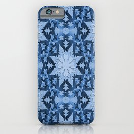 Icy blue snowflakes... iPhone Case