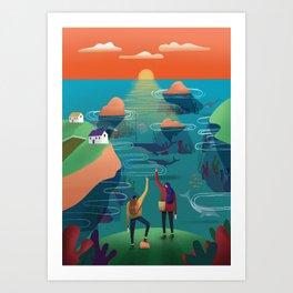Orkney Art Print