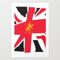 uk Art Prints featuring UK by John Choi King