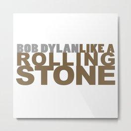 Bob DYLAN #GOLD Metal Print