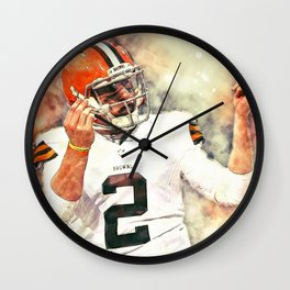 Johnny Manziel Wall Clock
