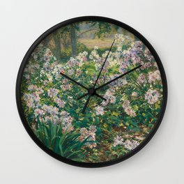 Windflowers by Gaines Ruger Donoho Wall Clock