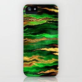 Gold & Emerald iPhone Case