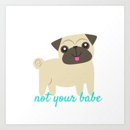 Feminist Pug Art Print