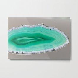 Turquoise Agate Slice Metal Print