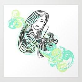 I dream of the sea Art Print