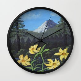 Lemon Lilies Return to Idyllwild Wall Clock