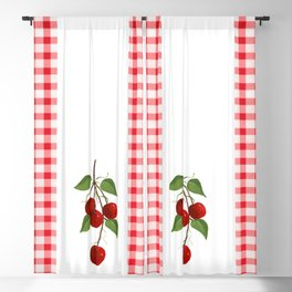 Country Cherries Blackout Curtain