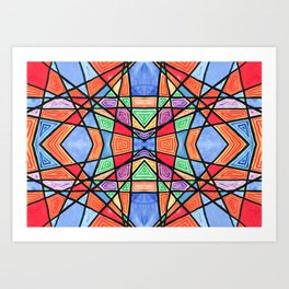 mexican stained glass Art Print