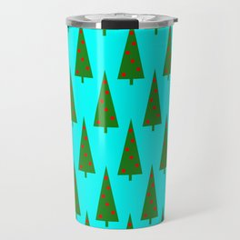 Contemporary Christmas Trees Pattern Travel Mug