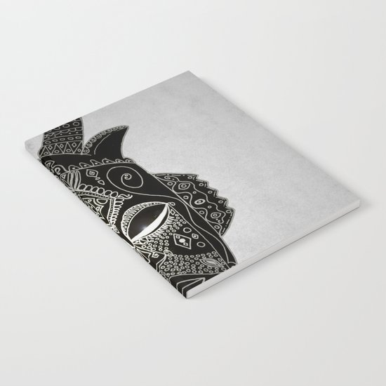 Horned tribal mask Notebook