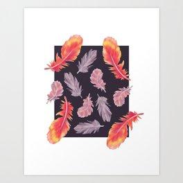 Fall Feathers Art Print