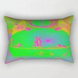 Garden of Earthly Delights - Fountain  Rectangular Pillow