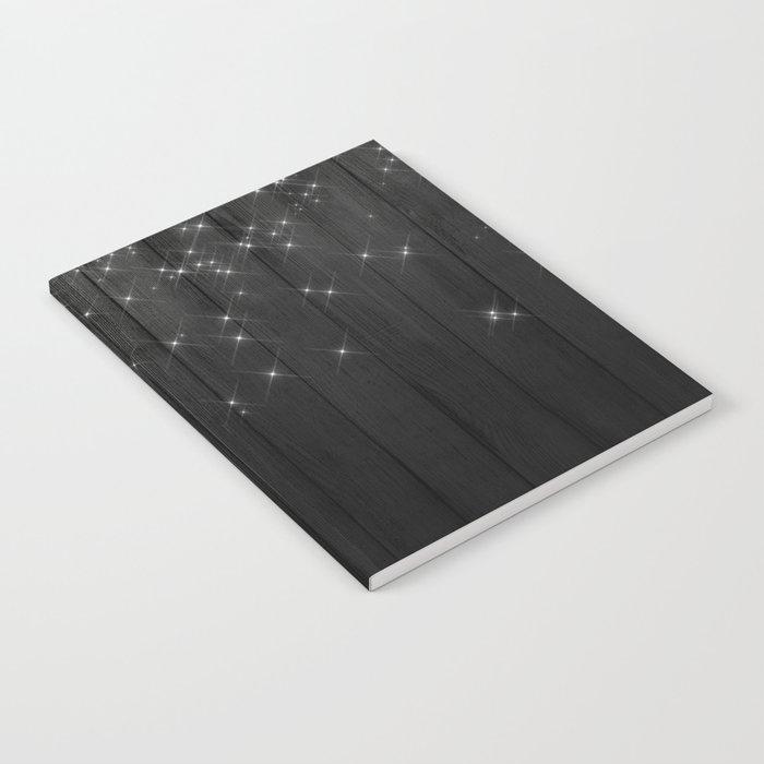 Fairy Lights on Wood 05 Notebook