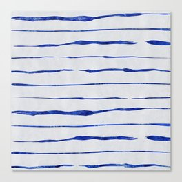 Blue Wiggly Stripes Pattern Canvas Print