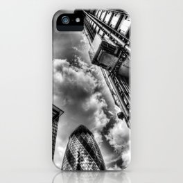 Lloyd's the Cheese Grater and Gherkin buildings London iPhone Case