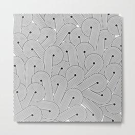Wavy Swirls Metal Print