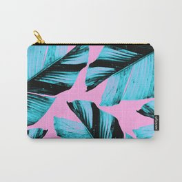 Tropical Banana Leaves Vibes #3 #foliage #decor #art #society6 Carry-All Pouch