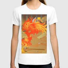 phoenix bird on fire T-shirt