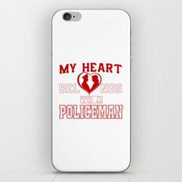 My heart belongs to a Policeman iPhone Skin