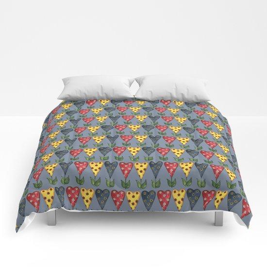 Hearts & Flowers Comforters