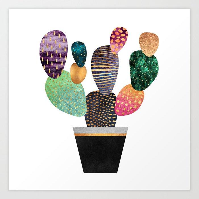 Pretty Cactus Art Print By Elisabethfredriksson