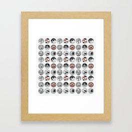 top pattern Framed Art Print