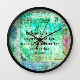 Jane Austen witty LOVE quote Wall Clock