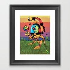 Odd Reynbow Encounter Framed Art Print