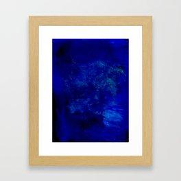 Blue Night- Abstract digital Art Framed Art Print