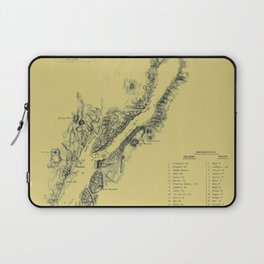 Map of Lake George 1855 Laptop Sleeve