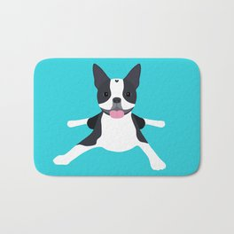 boston terrier Bath Mat
