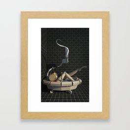 Leggy-Bot in Tub Framed Art Print