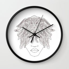 Free form locs Wall Clock