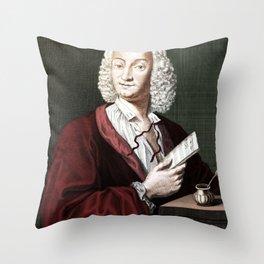 Antonio Vivaldi (1678-1741) by Morellon de la Cave in 1725 Throw Pillow